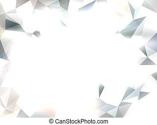 triangle, abstrakcyjny, wektor, białe tło