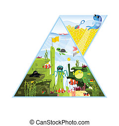 Triangle Aquarium Illustration
