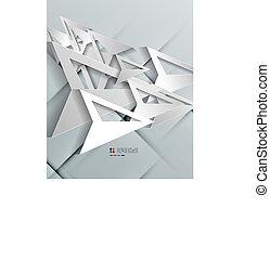 Triangle arrow 3d paper design