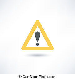 triangle avertissement, icône