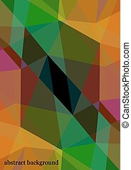 Triangle background. Colorful polygons. Abstract background in rainbow colors