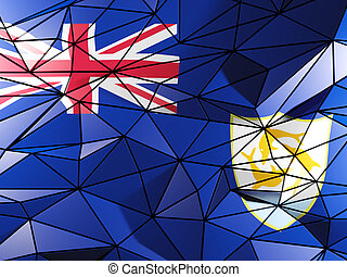 Triangle background with flag of anguilla