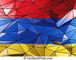 Triangle background with flag of armenia