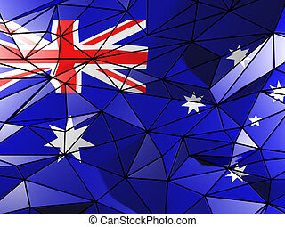 Triangle background with flag of australia