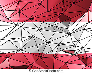 Triangle background with flag of austria