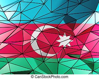 Triangle background with flag of azerbaijan