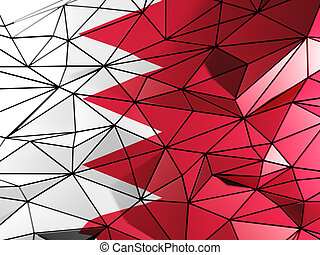 Triangle background with flag of bahrain