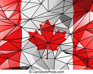 Triangle background with flag of canada