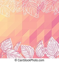 Triangle background with leaves
