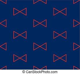 triangle bleu, arrière-plan rouge, indigo, ruban