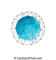 triangle bleu, résumé, vecteur, fond, géométrique