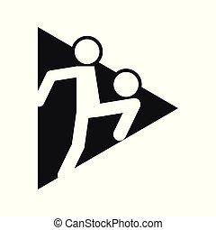 Triangle Block Football Soccer Juggling Sport Outline Figure Symbol Vector