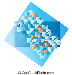 Triangle blue color abstract background. Vector illustration.