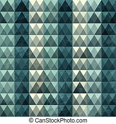 triangle blue pattern seamless