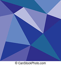 Triangle blue vector background