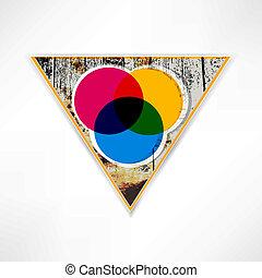 triangle., bois, résumé, contre, bulle, parler