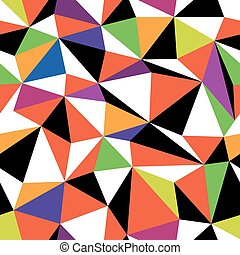 Triangle colorful pattern, seamless