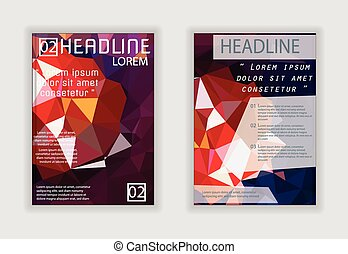 Triangle design vector template layout for magazine brochure flyer booklet cover annual report in A4 size Modern