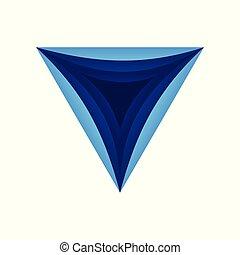 Triangle Dimensional Hole Symbol Logo Design
