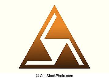 triangle dsign logo vector