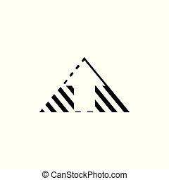 triangle, flèche, espace, vecteur, négatif, décoration
