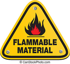 triangle flammable material sign