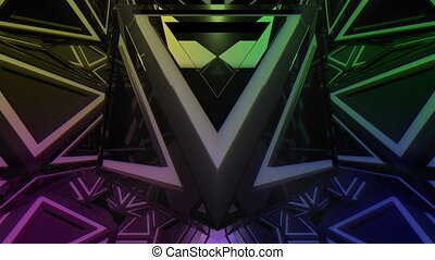 triangle, forme abstraite, animation, 4k, vj, 3d