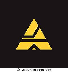 triangle geometric abstract logo vector
