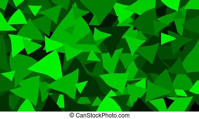 Triangle - geometric background - Triangle - green geometric...