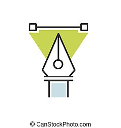 triangle Green pen tool icon