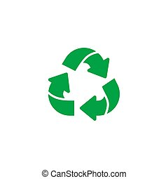 Triangle green recycling environmental eco icon vector