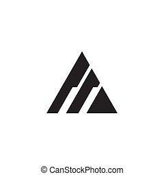 Triangle icon logo design vector template