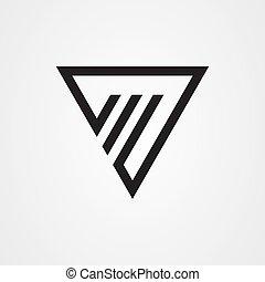 Triangle icon logo vector design
