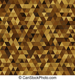 triangle imitation gold - seamless abstract bright...