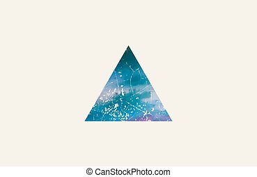 triangle logo design. grunge triangle. beautiful element