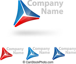 triangle logo design template