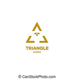 Triangle logo icon design vector simple minimal