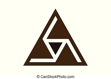 triangle logo icon vector