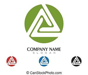 Triangle Logo Template vector icon illustration design