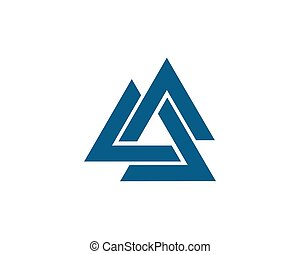 Triangle Logo Template vector icon