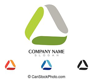 Triangle Logo Template vector icon illustration design