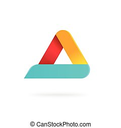 Triangle logo with rounded corners vector isolated geometric figure