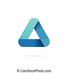 Triangle logo with rounded corners vector isolated on white background
