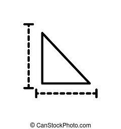 triangle measure architecture icon line style