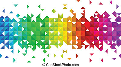 triangle, mosaïque, fond