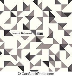triangle, motifs, moderne, dynamique, gris, arrière-plan., géométrique