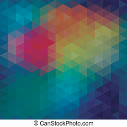 triangle, néon, seamless, fond