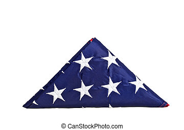 triangle old glory - old glory bended in a triangle isolated...
