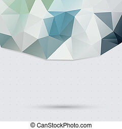 Triangle pattern background - light color background of...