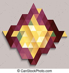 Triangle pattern in diamond shape abstract colorful